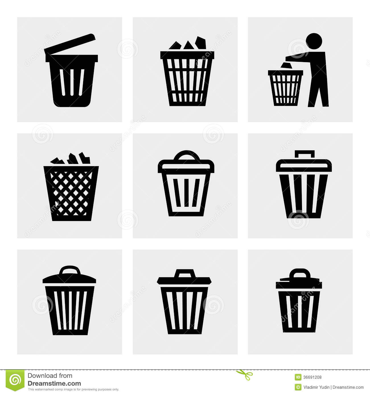 Trash Can Icon Royalty Free Stock Photos - Image: 36691208