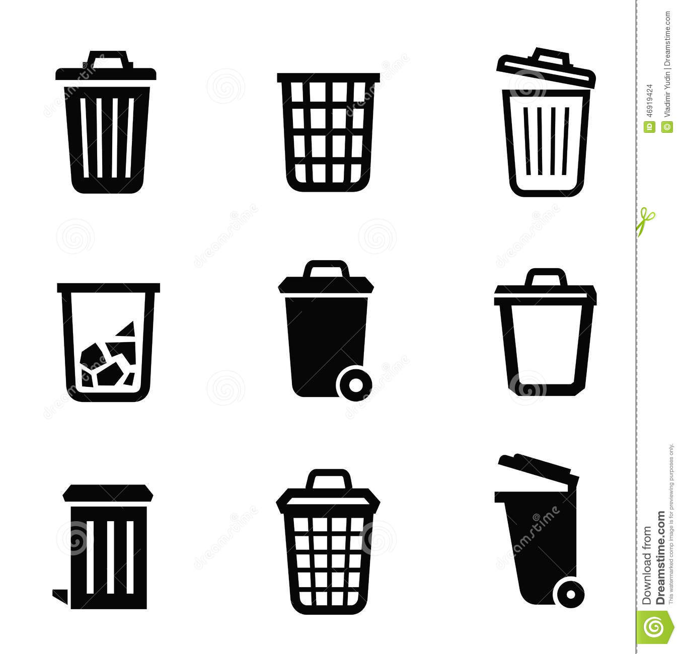 Trash Can Icon Stock Vector - Image: 46919424