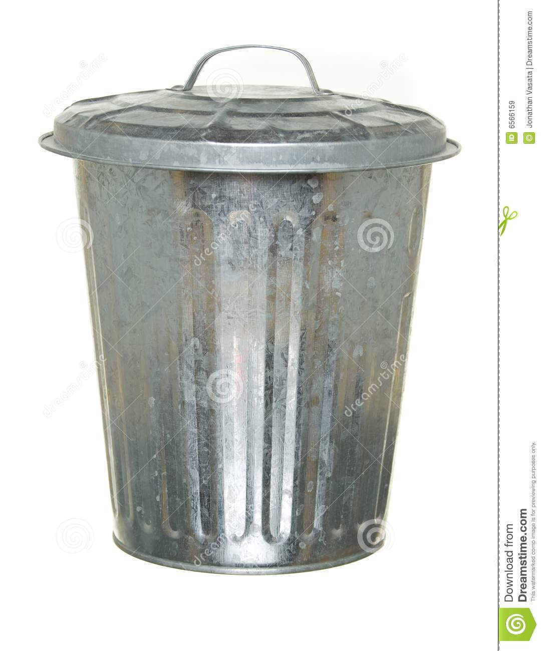 can isolated lid metal trash