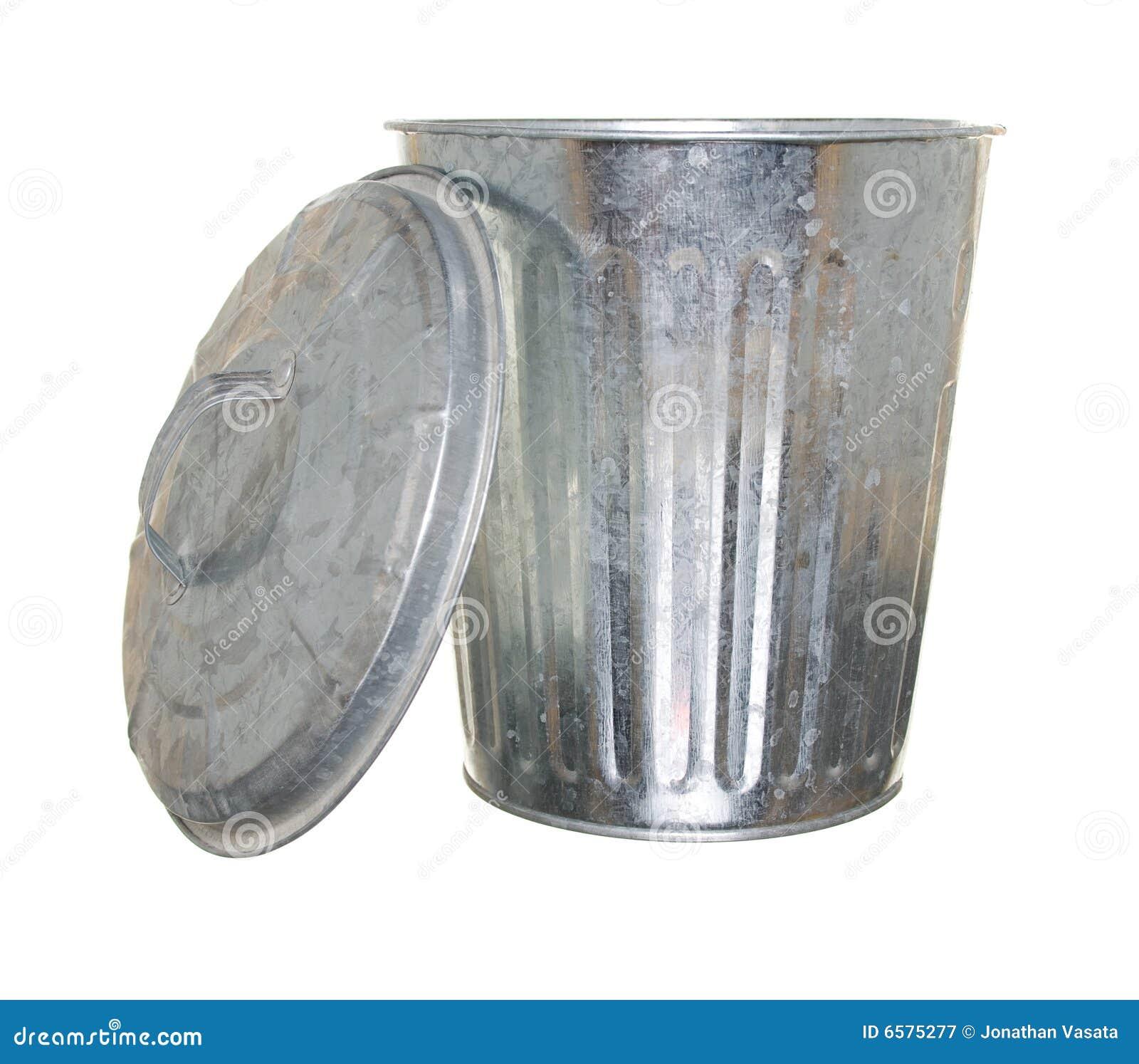 Trash Can Lid Off Stock Image Image Of Dirt Trash