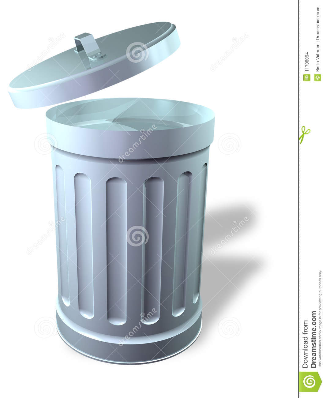 Trash Can Open Stock Illustration Image Of Recycle Junk
