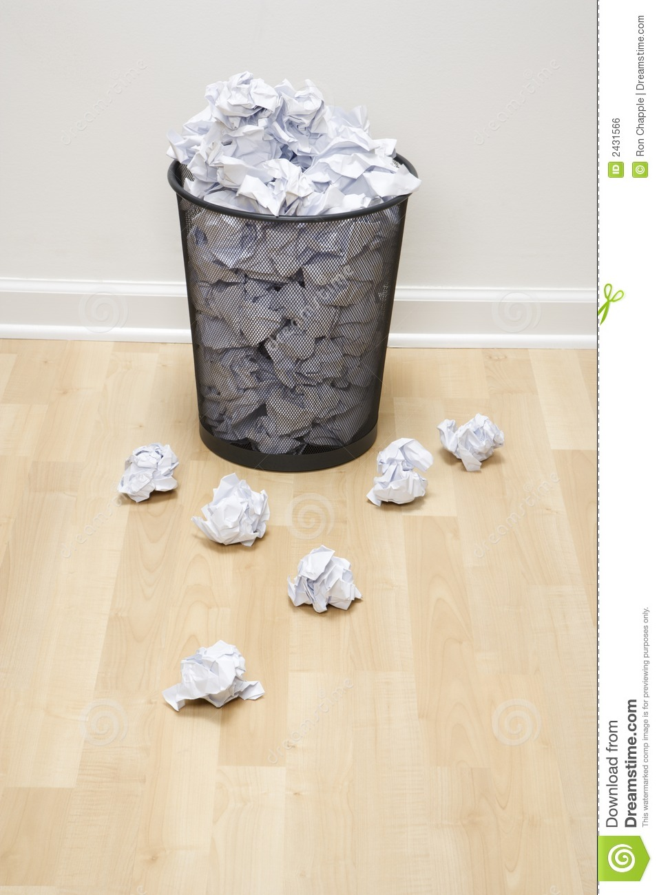 trash can and paper  stock photo  image of 070119j0708