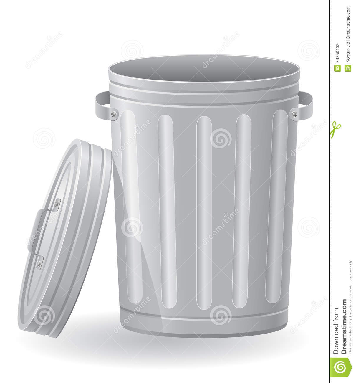 Trash Can Vector Illustration Stock Photography - Image: 34850102