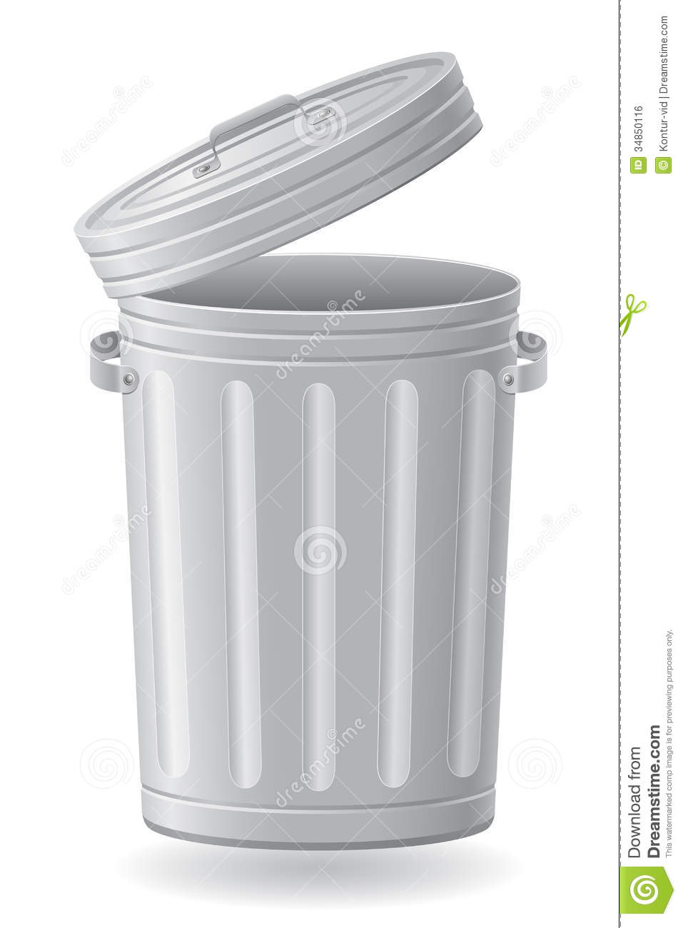 Trash Can Vector Illustration Royalty Free Stock Image
