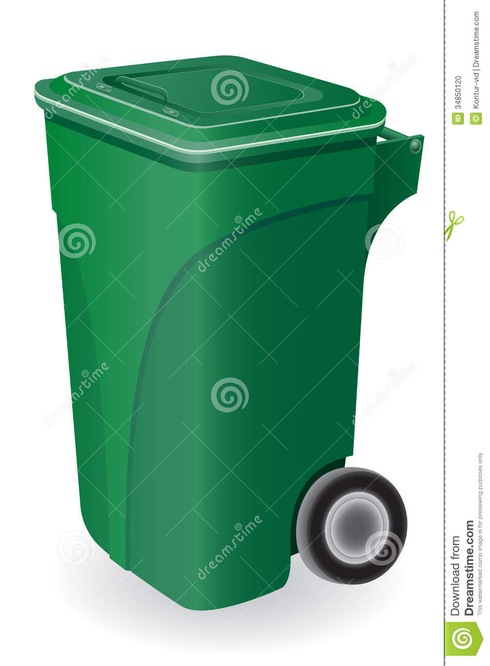 Trash Can Vector Illustration Stock Photo Image 34850120
