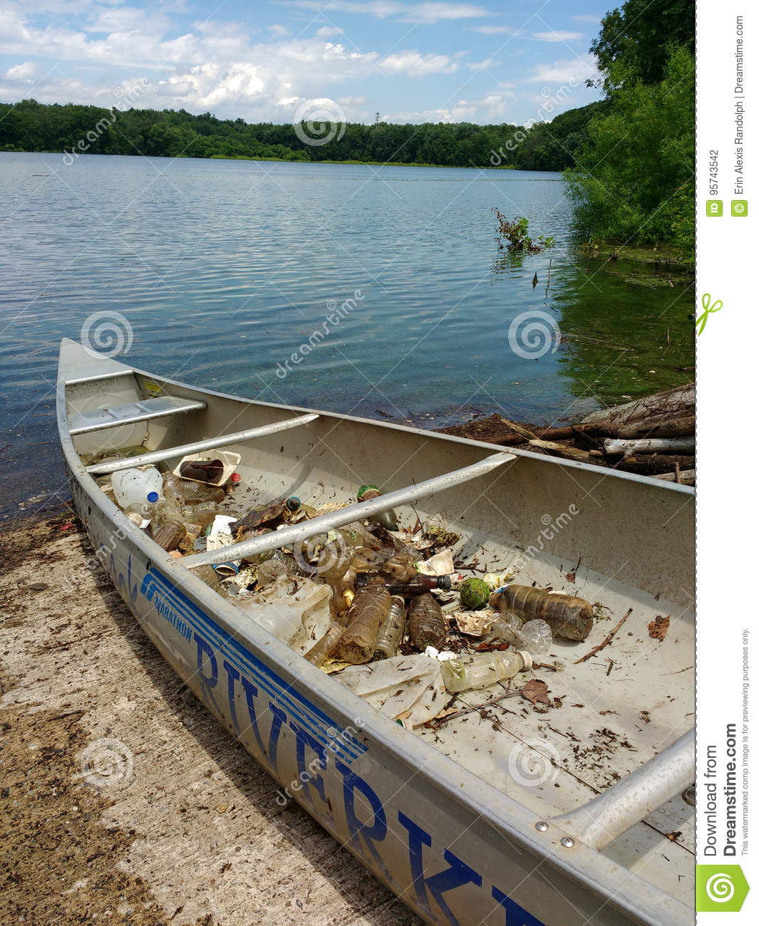 Trash In A Canoe, Woodcliff Lake Reservoir Cleanup Event