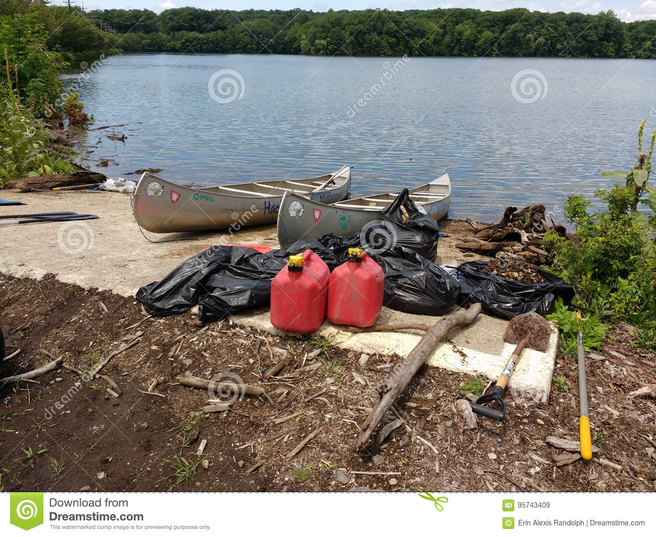 Trash Collected During A Cleanup Event, Gas Cans, USA