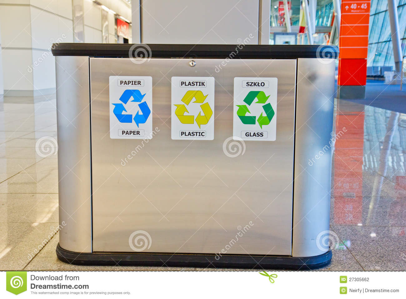 Trash Containers For Garbage Separation Stock Photography