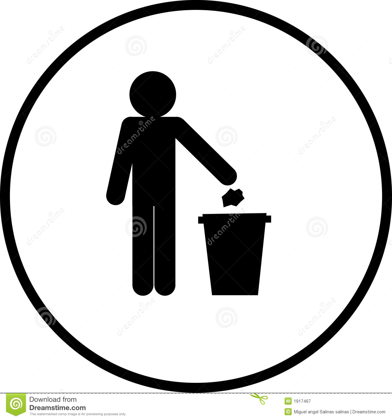 trash sign stock vector illustration of place  canister trash can clipart png free clip art garbage can