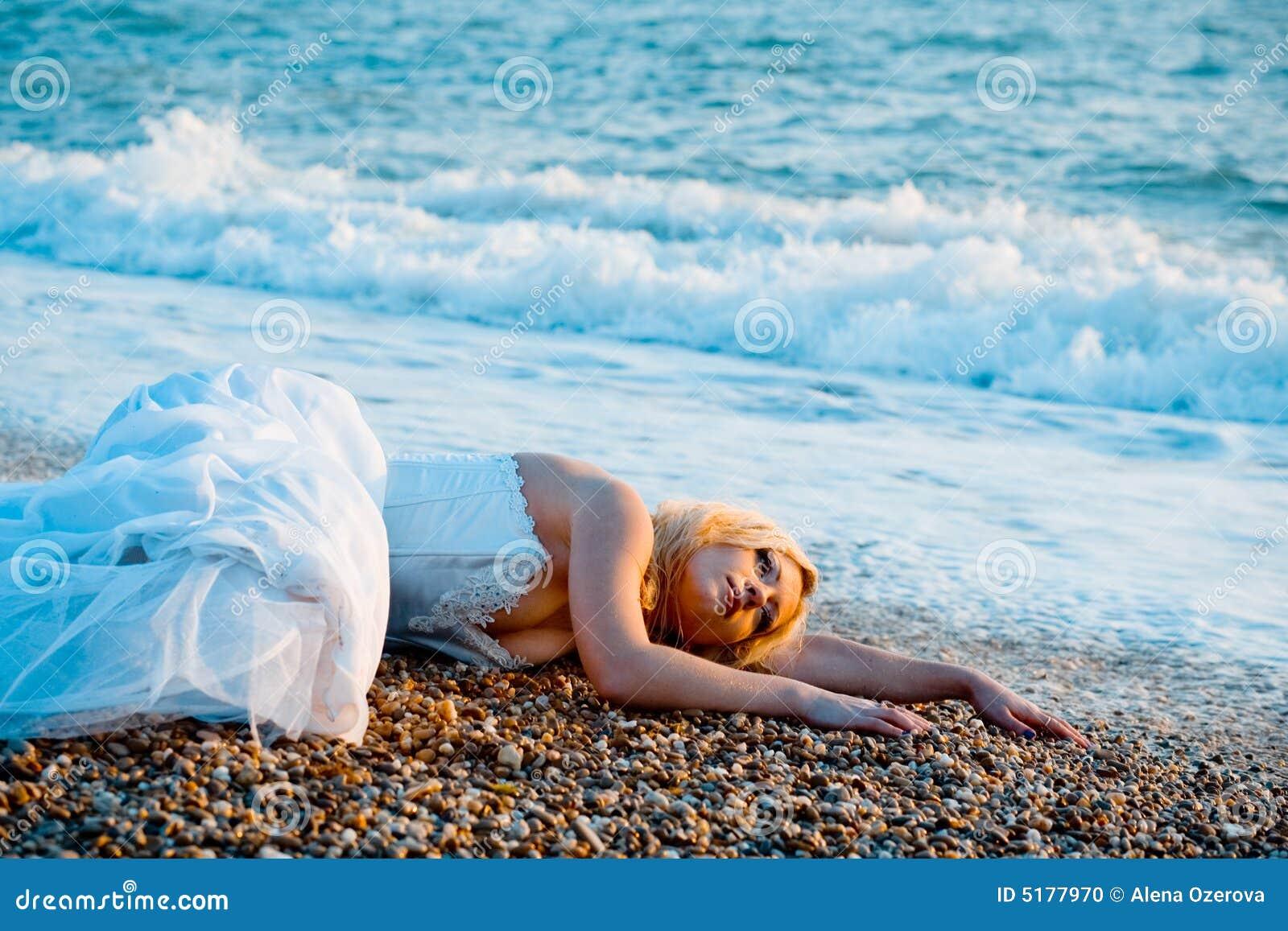 Trash the wedding dress stock photo. Image of person, femininity ...