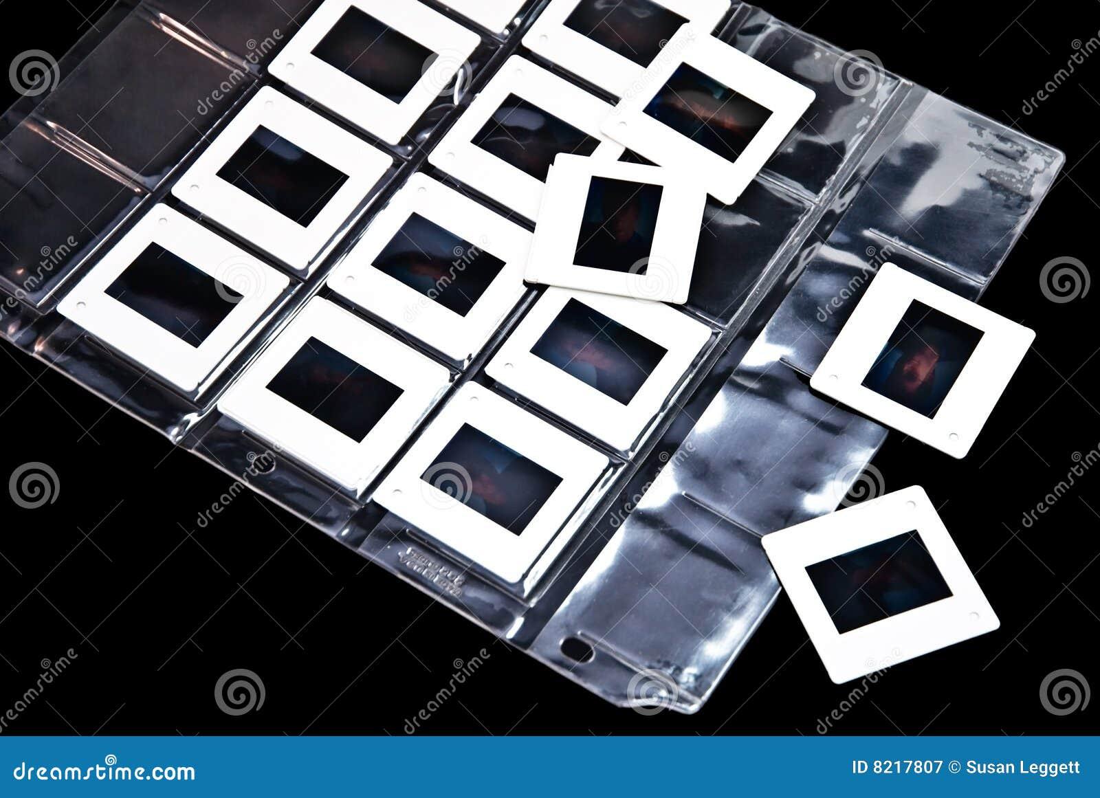 Trasparenze di pellicola della foto in plastica immagine stock