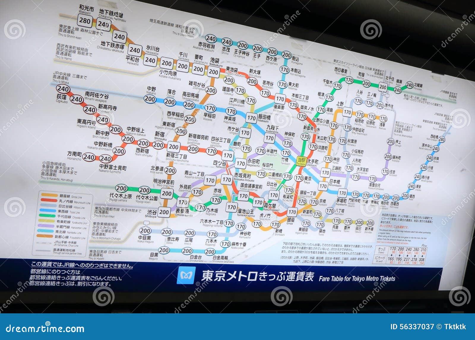 Trasporto pubblico del sottopassaggio di Tokyo