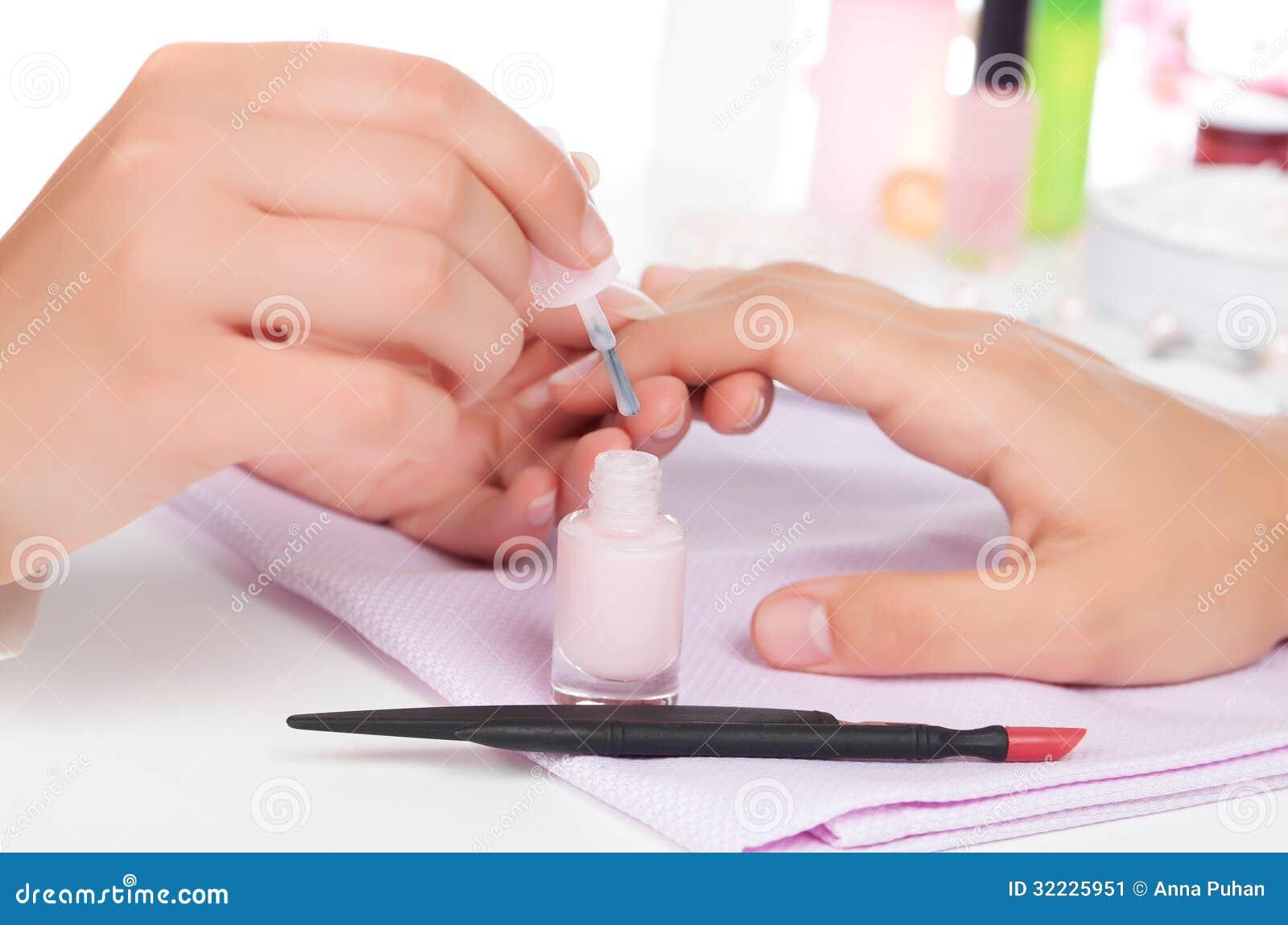 Download Tratamento de mãos. imagem de stock. Imagem de cosmético - 32225951