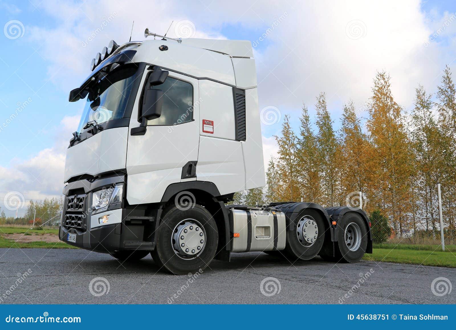 trattore bianco del camion di renault t fotografia editoriale immagine 45638751. Black Bedroom Furniture Sets. Home Design Ideas