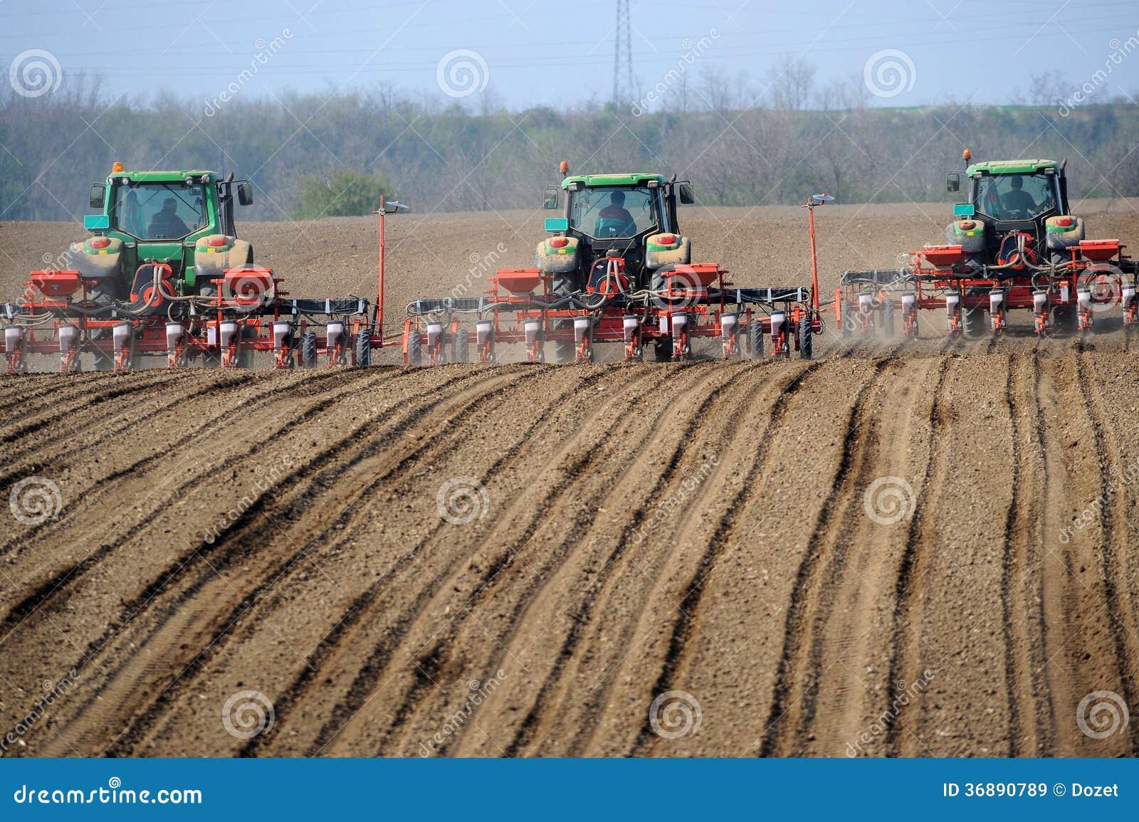 Download Trattori Agricoli Che Coltivare Campo Immagine Stock - Immagine di campo, trattore: 36890789
