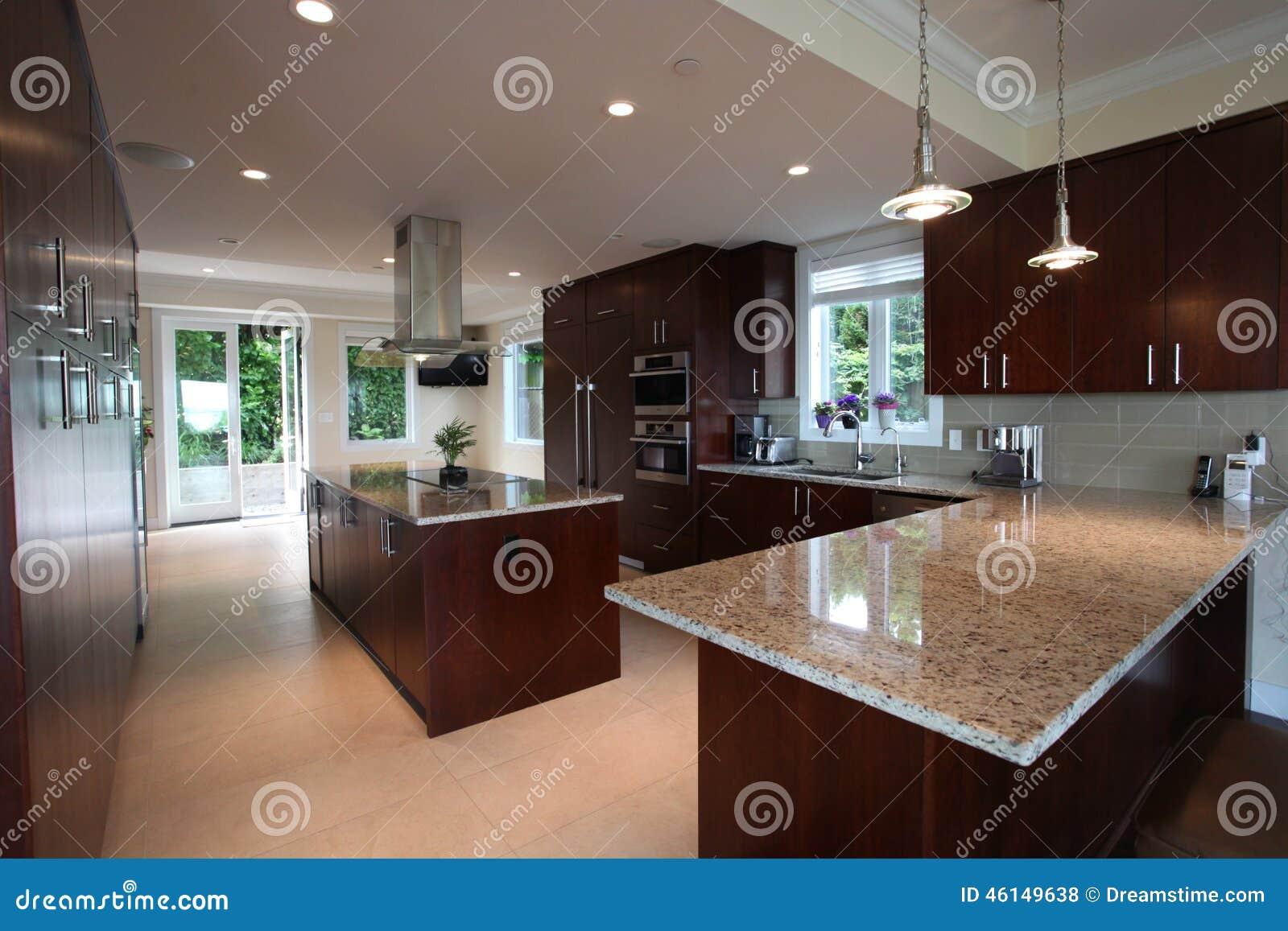 traumküche stockfoto. bild von luxus, holz, haupt, küche - 46149638