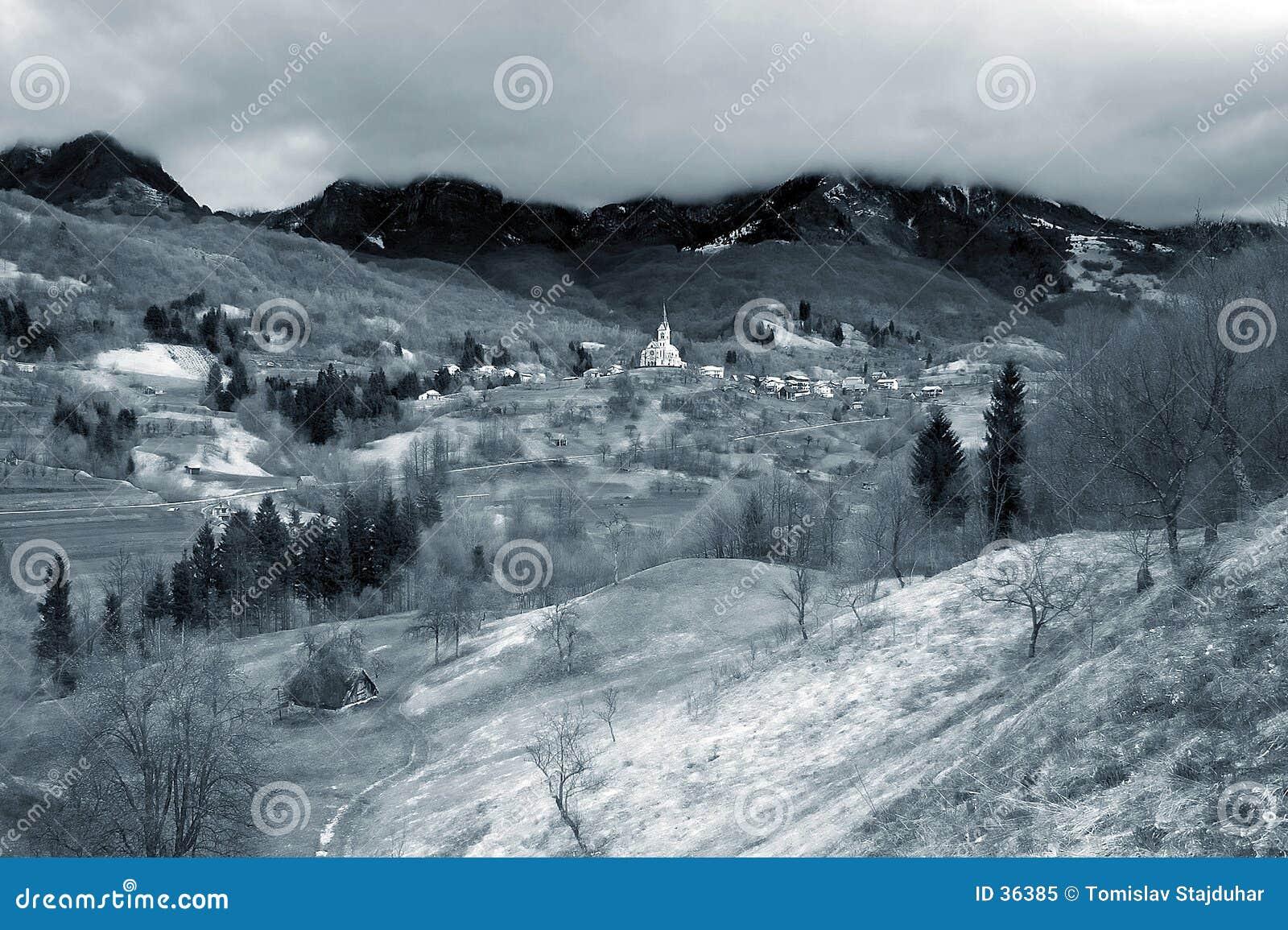 Download Traumlandschaft stockbild. Bild von fairytale, feen, slowenien - 36385