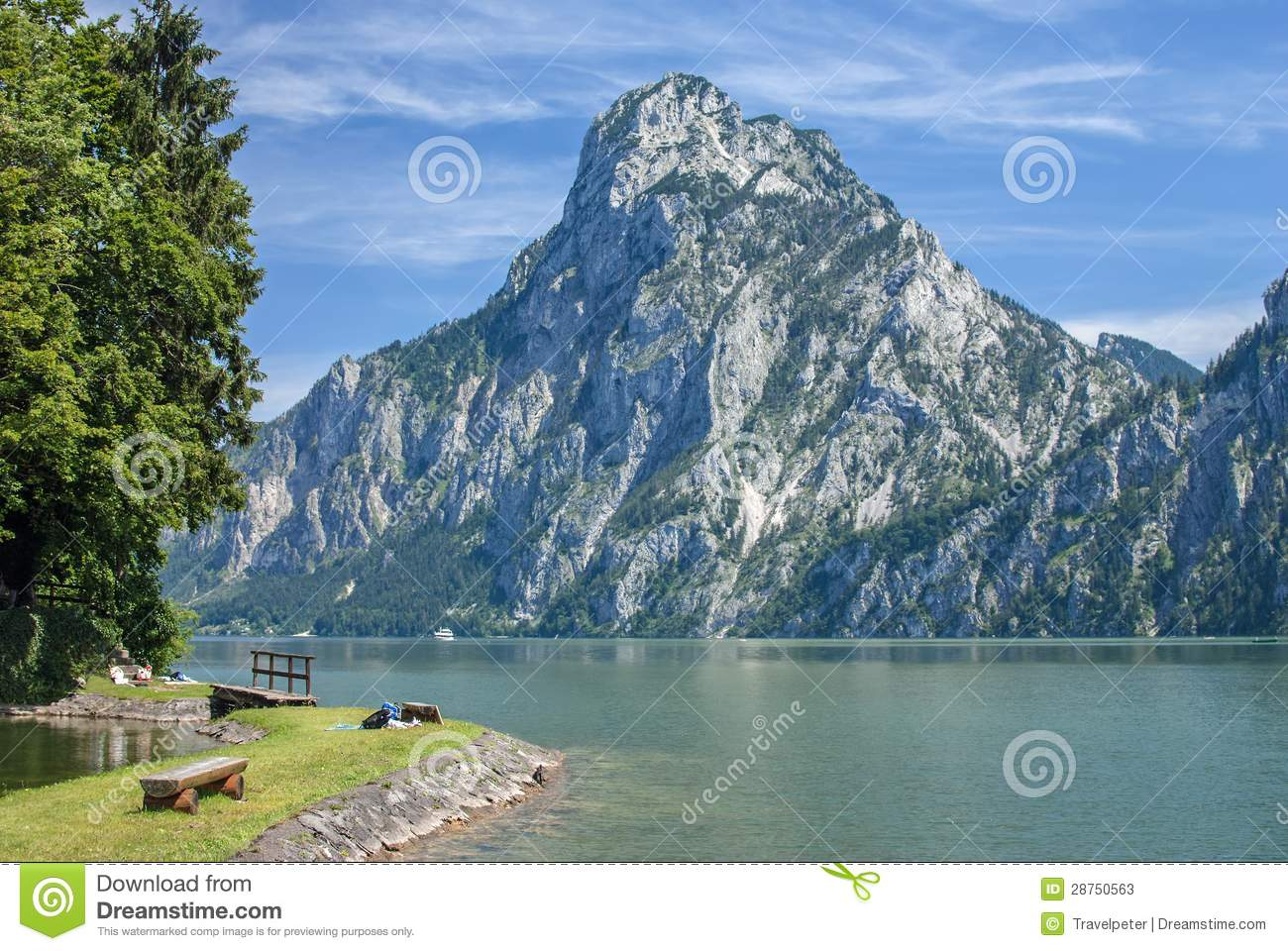 traunkirchen lake traunsee austria stock image image. Black Bedroom Furniture Sets. Home Design Ideas