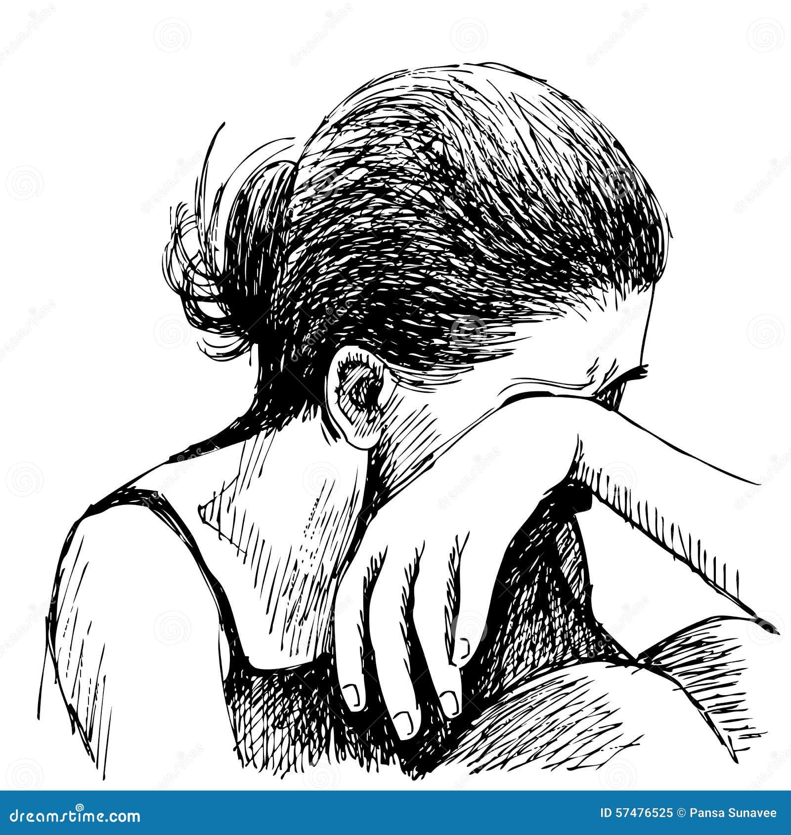 traurige bilder zeichnen einfach