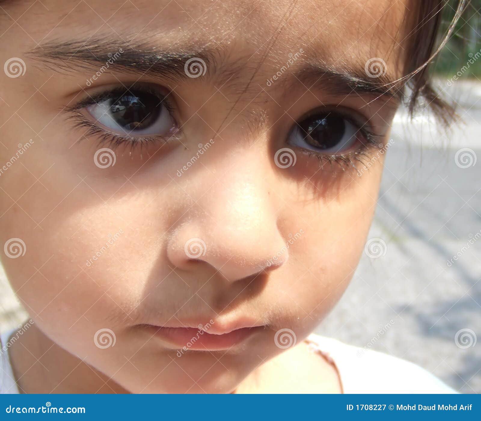 Trauriges Gesicht Stockbild Bild Von Hornhaut Kontakt 1708227