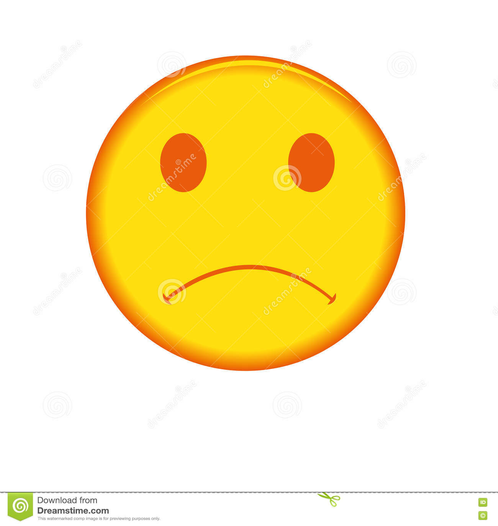 Trauriges Gesicht Vektor Abbildung Illustration Von Gesicht 79068233