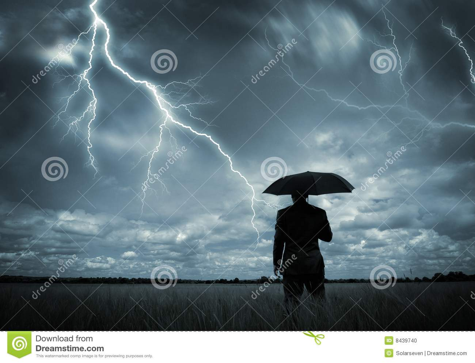 Travado na tempestade