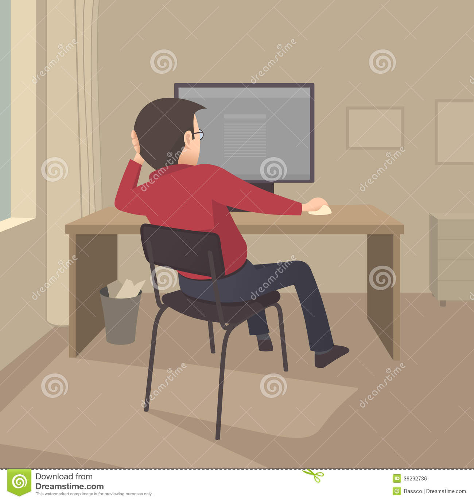 Travail à l ordinateur