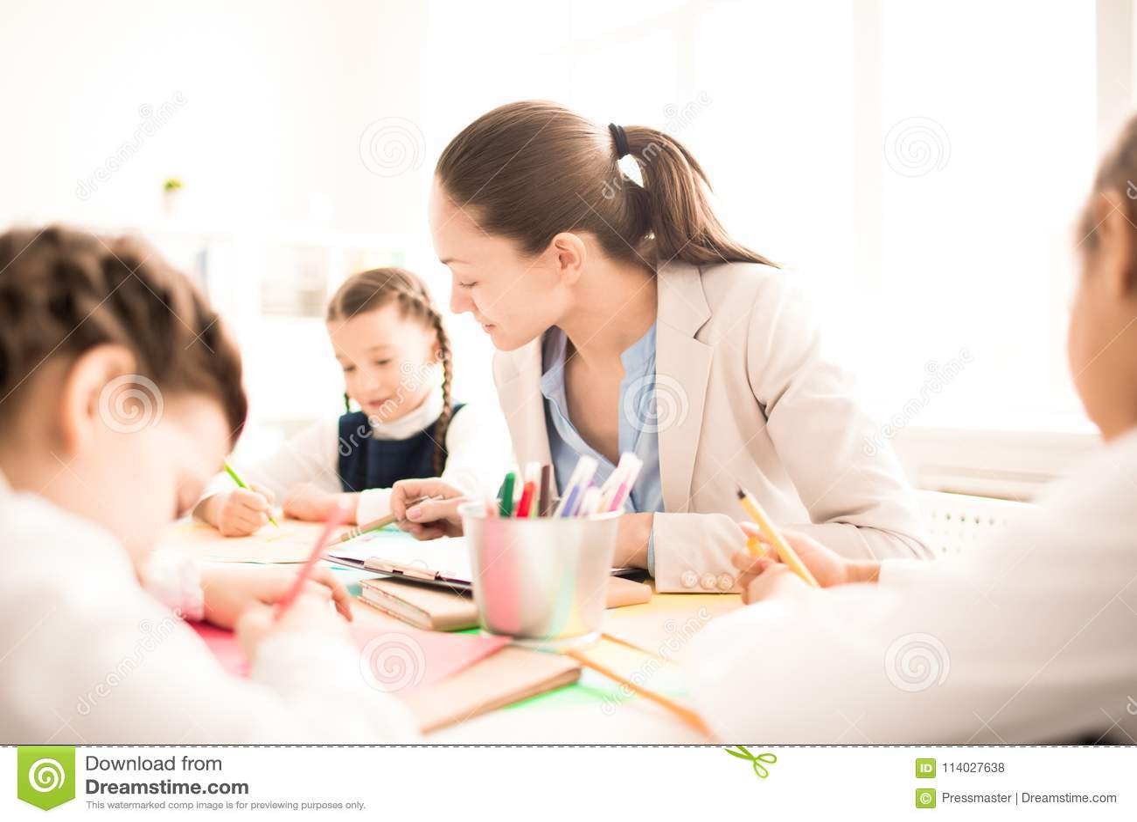 Travail avec le professeur