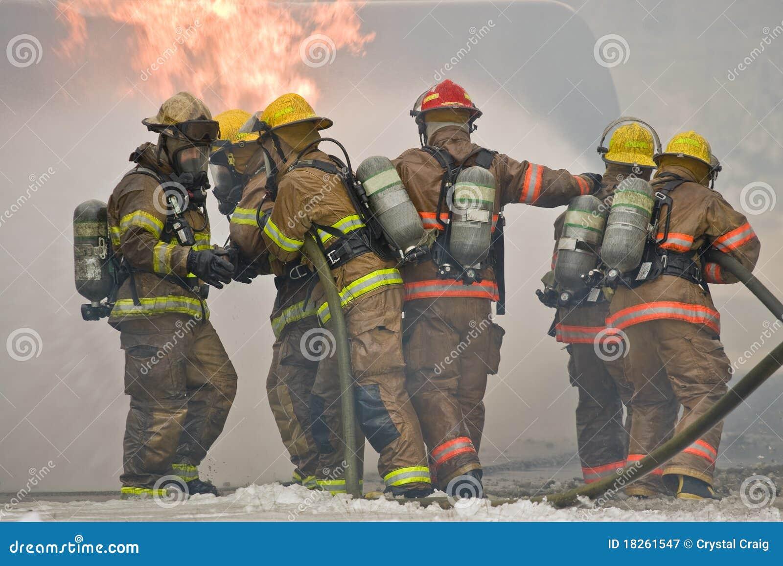 Travail d équipe de sapeur-pompier