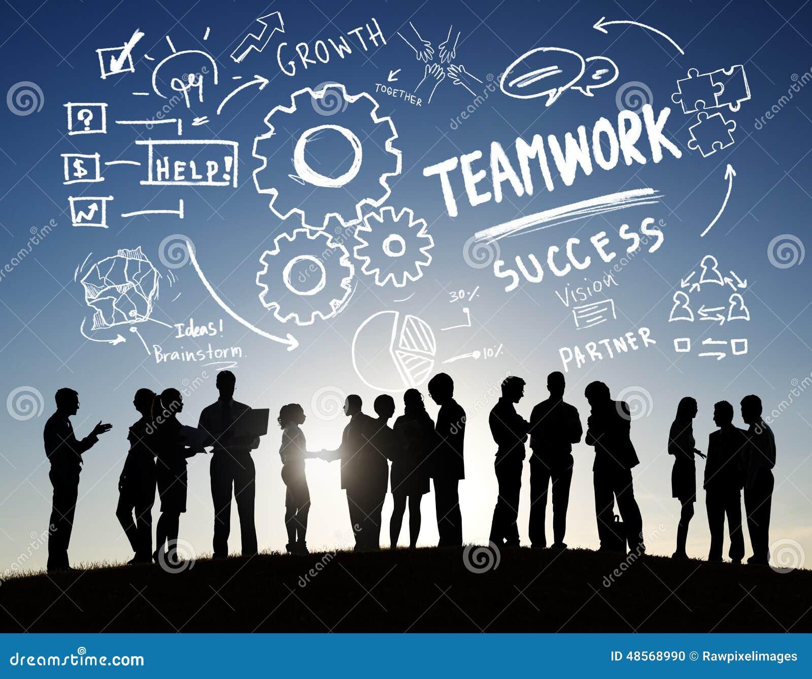 Travail d équipe Team Together Collaboration Business Communication Outd