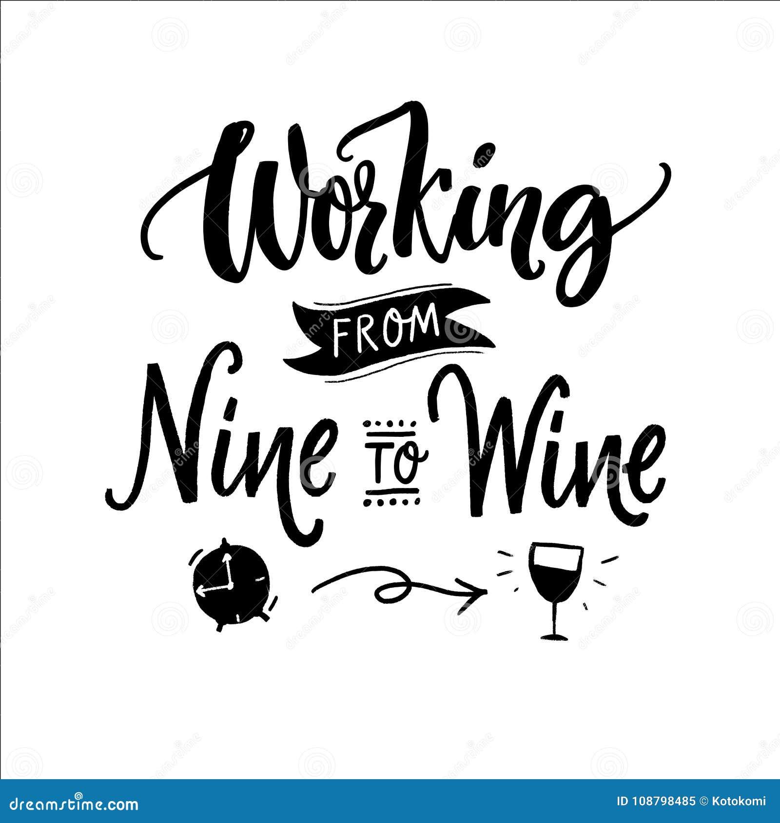 Travail De Neuf Au Vin Citation Drole Pour La Piece En T Imprimee