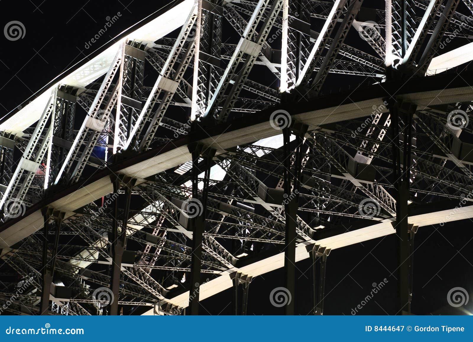Travail en acier sur la passerelle de port de Sydney