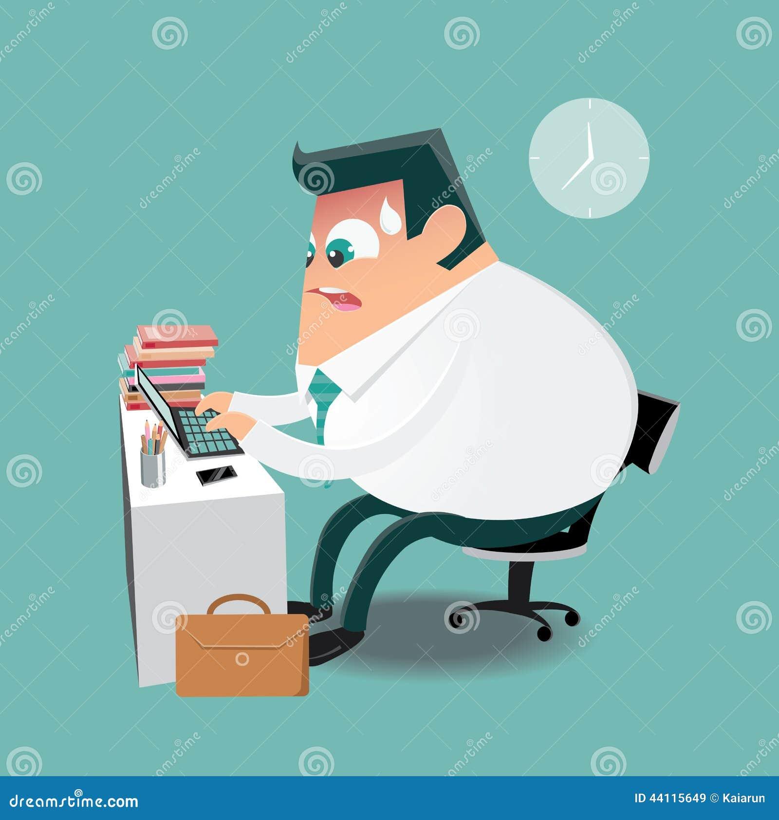 travailler dur dans le bureau illustration de vecteur image 44115649