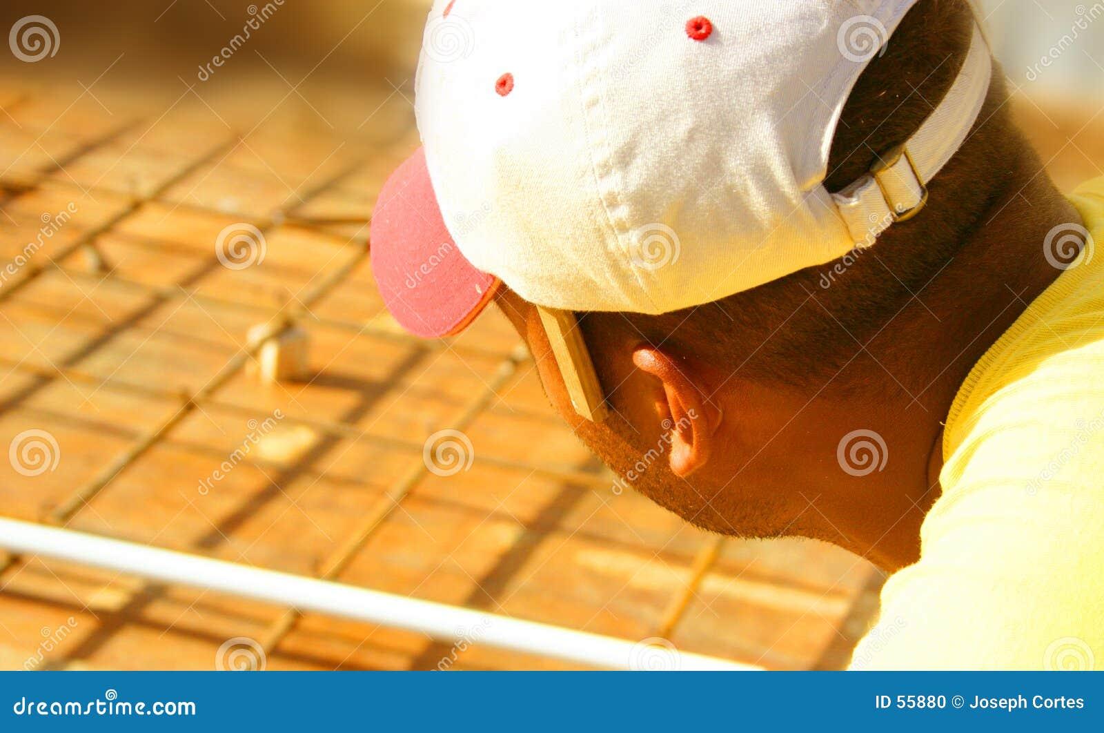 Download Travailleur De La Construction Photo stock - Image du fonctionnement, unfinished: 55880