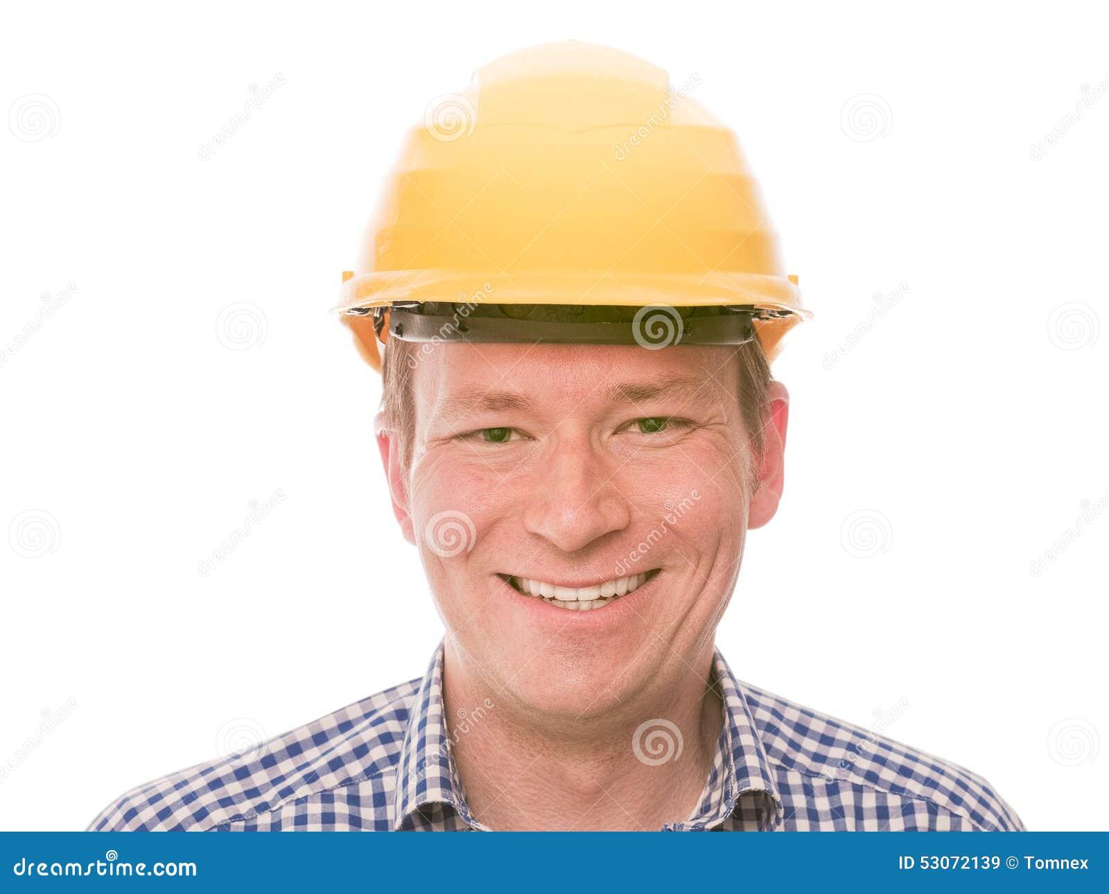 Travailleur de la construction heureux