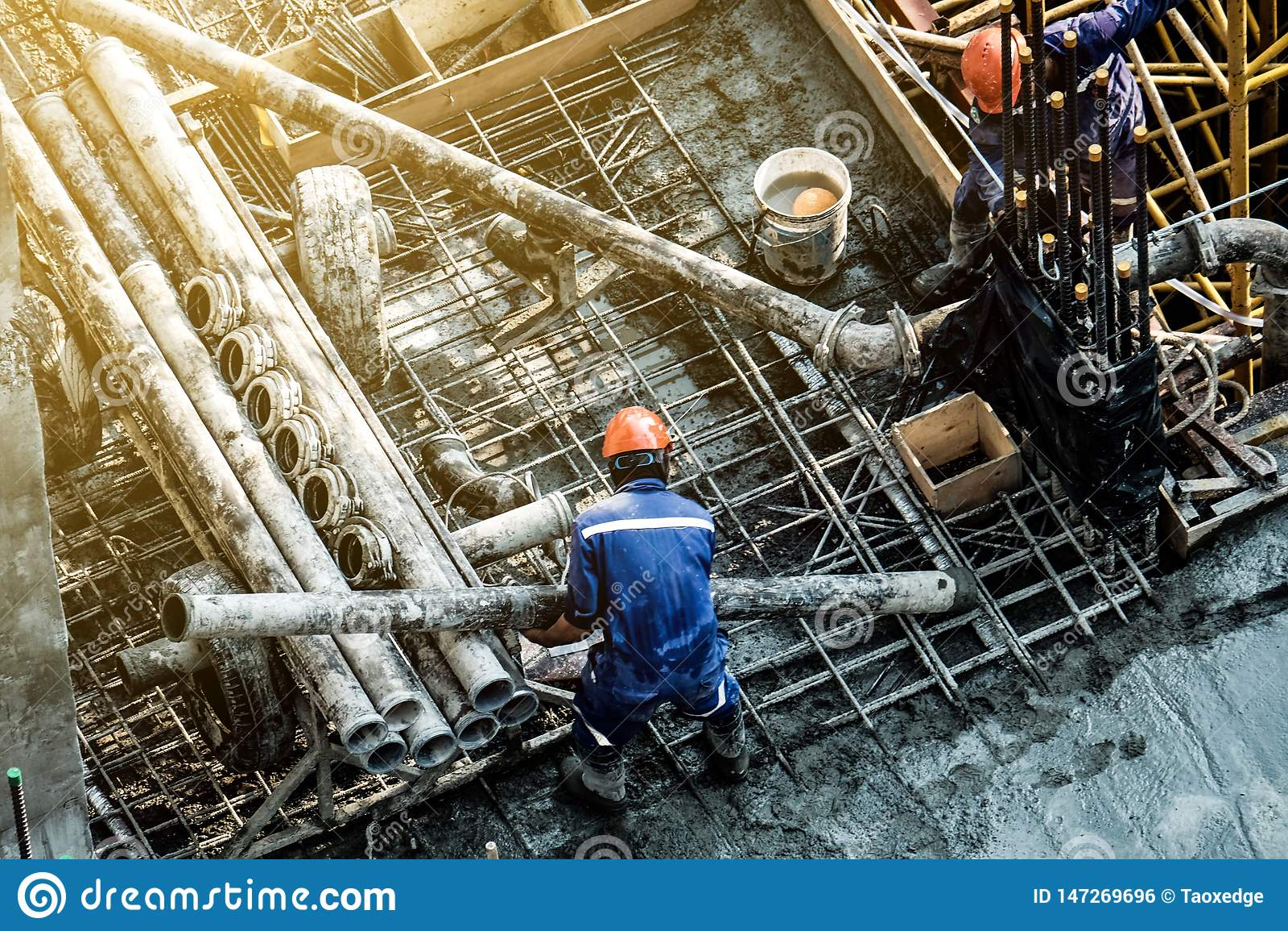 Travailleurs de la construction de sécurité