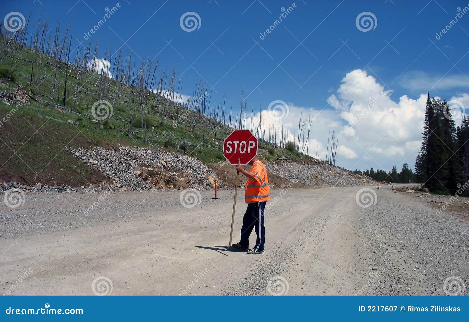 Travaux de route de Yellowstone