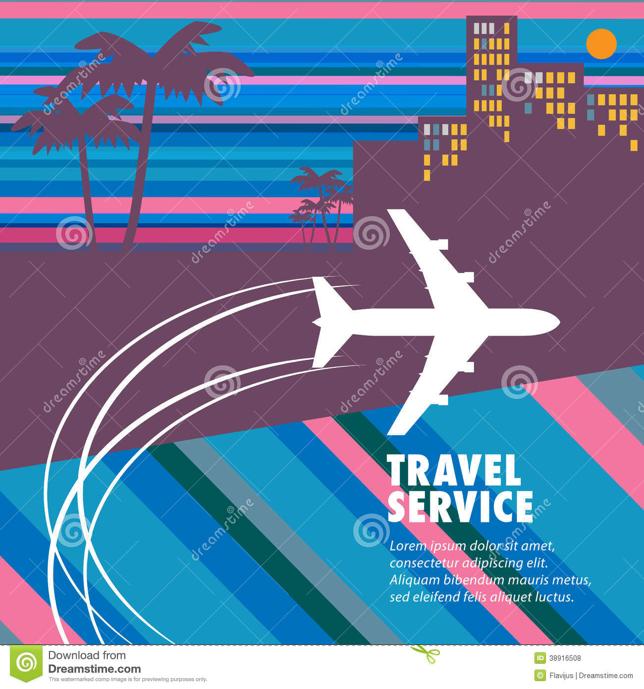 travel agency abstract stock vector