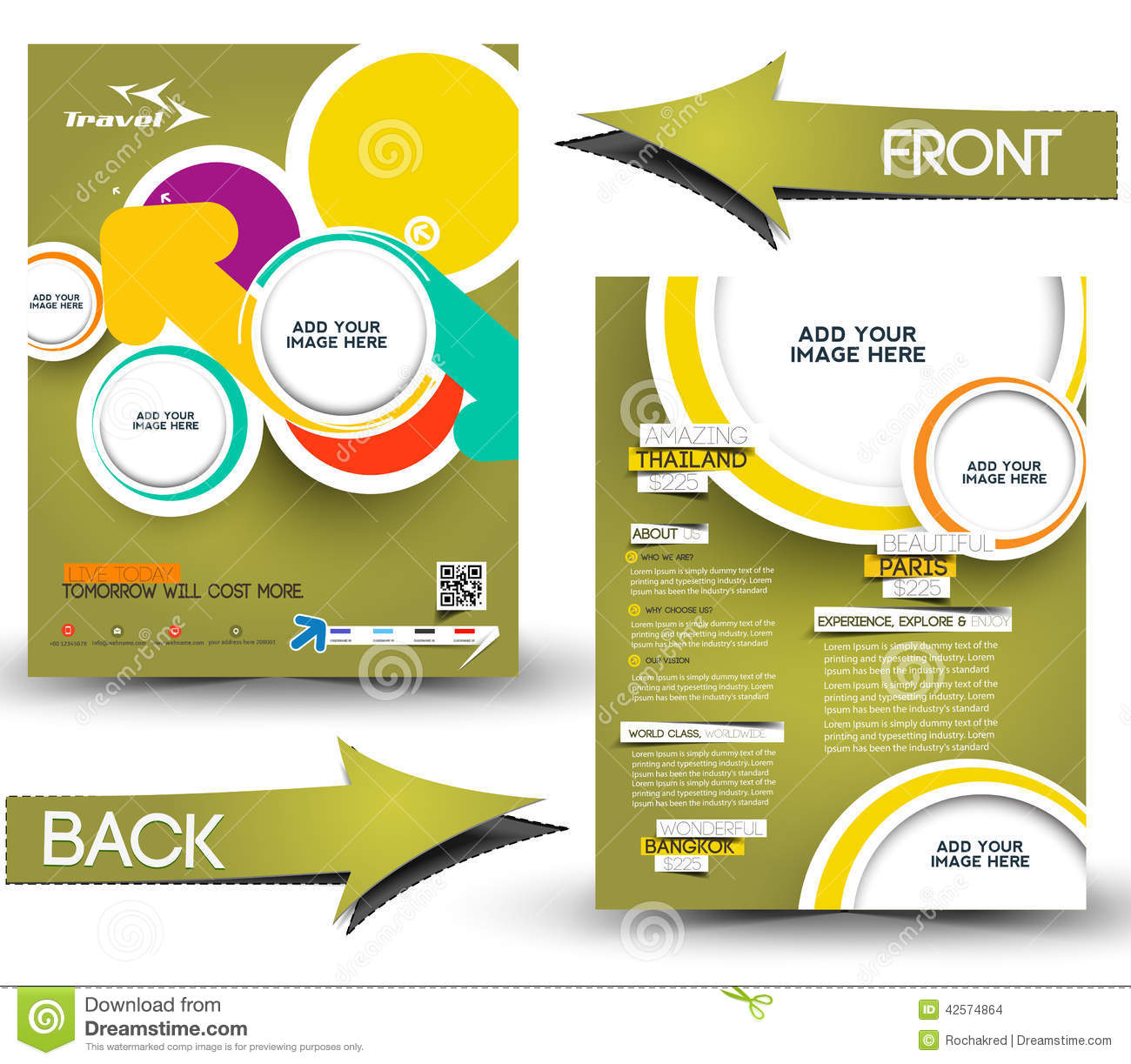 Tri Fold Invitation with nice invitation design
