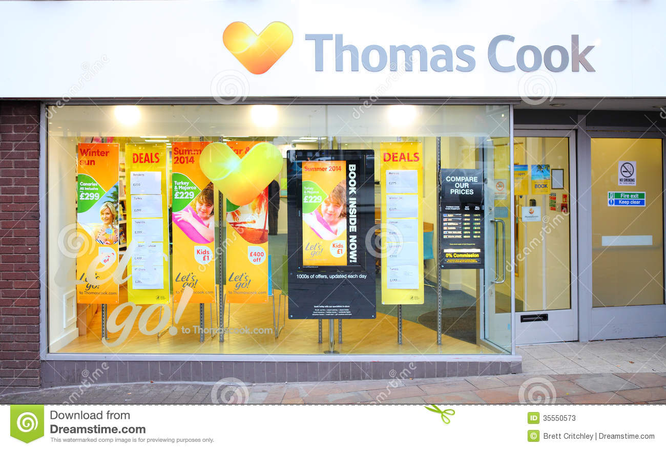 Travel agents shop front editorial stock photo image of for Advertising companies uk