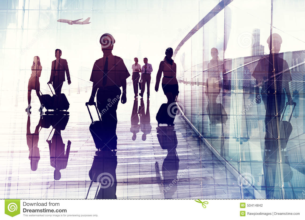 Travel Airport Business Cabin Crew Business Travel Concept