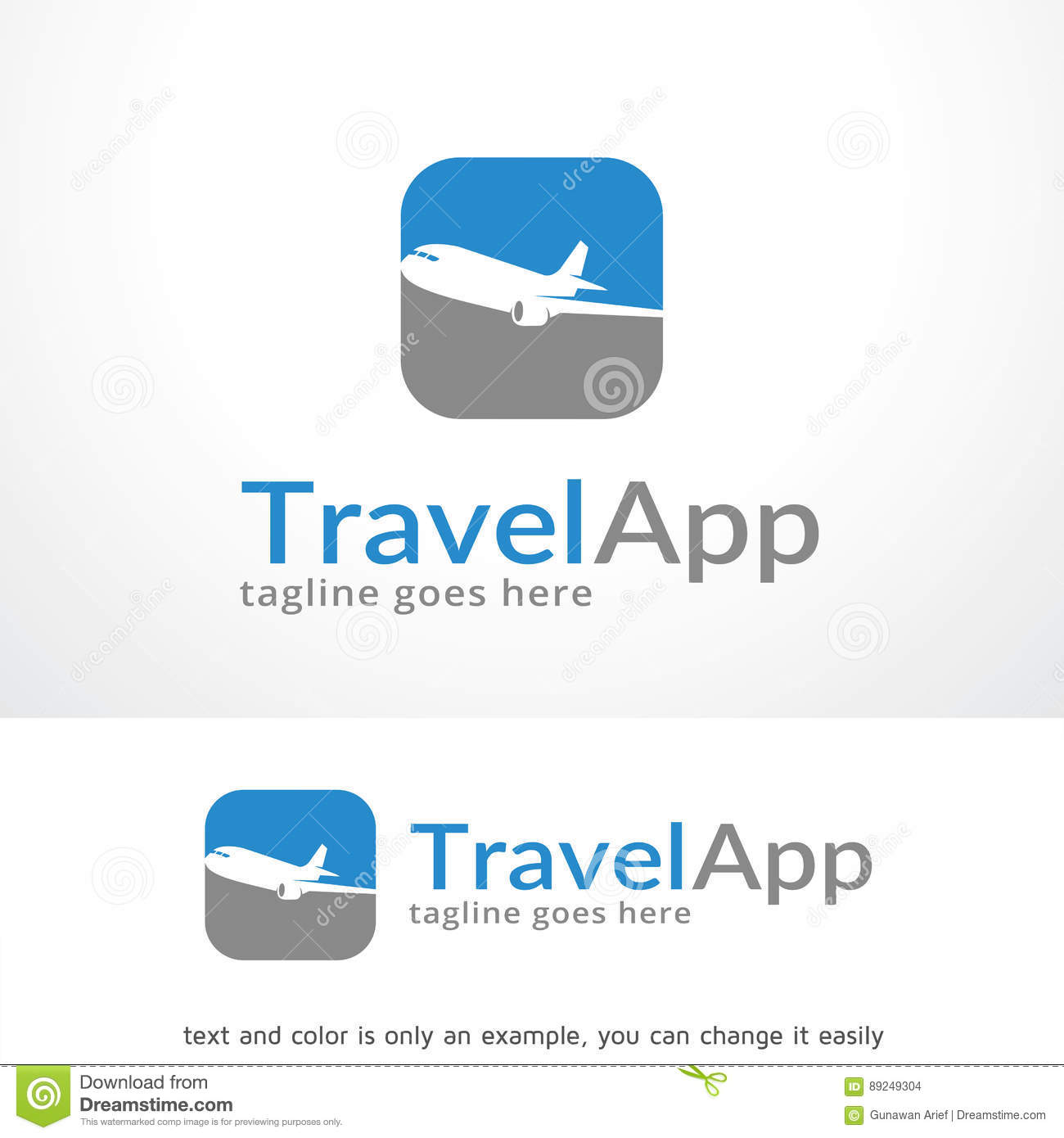 travel app logo template design vector emblem design concept