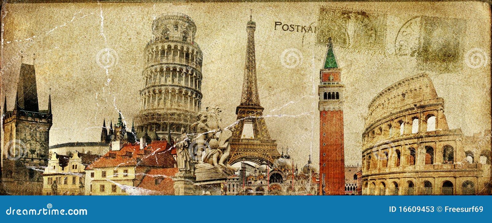Travel Around Europe Stock Illustration Image Of City
