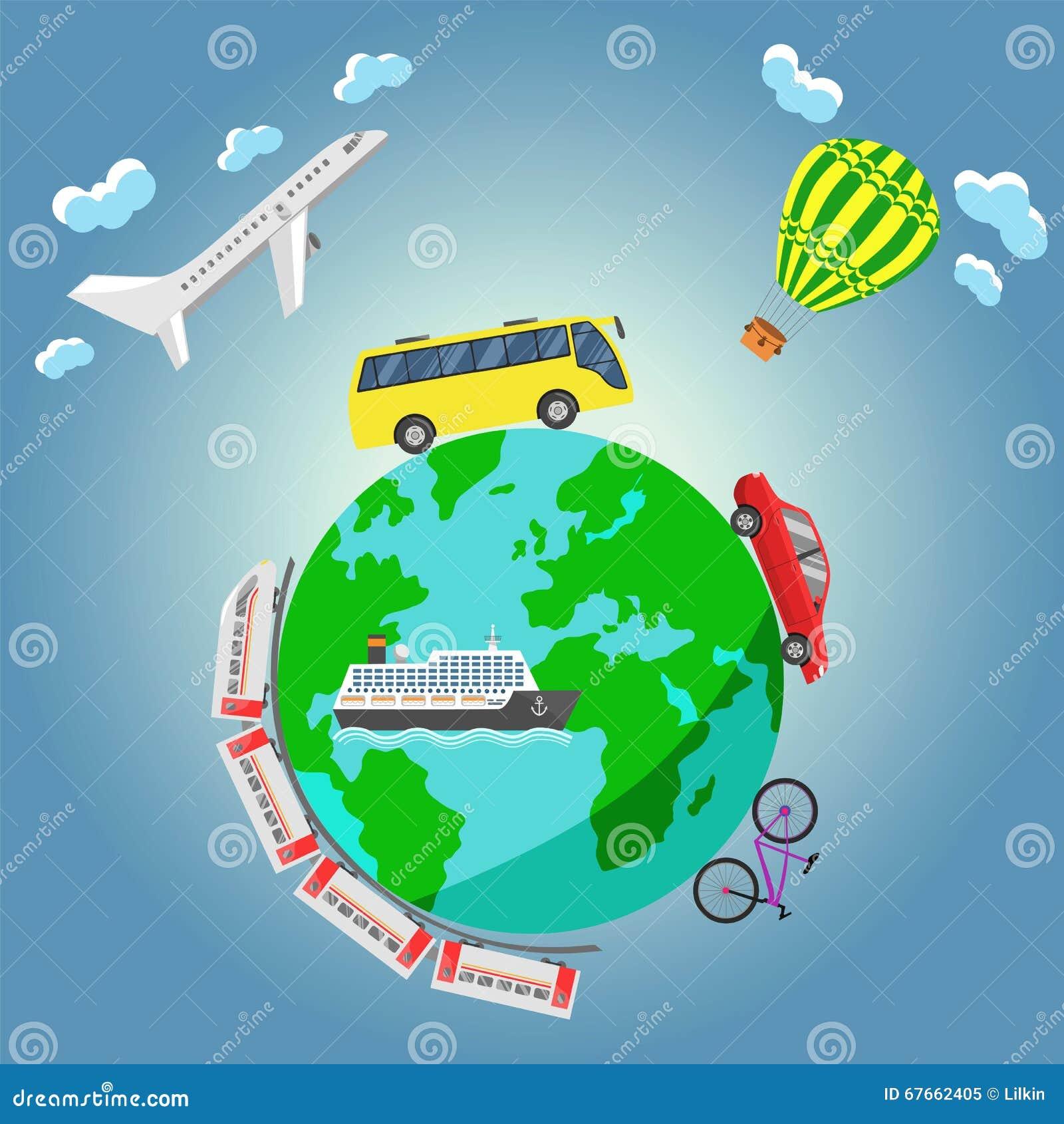 Travel around the world stock vector image 67662405 for Around the world cruise