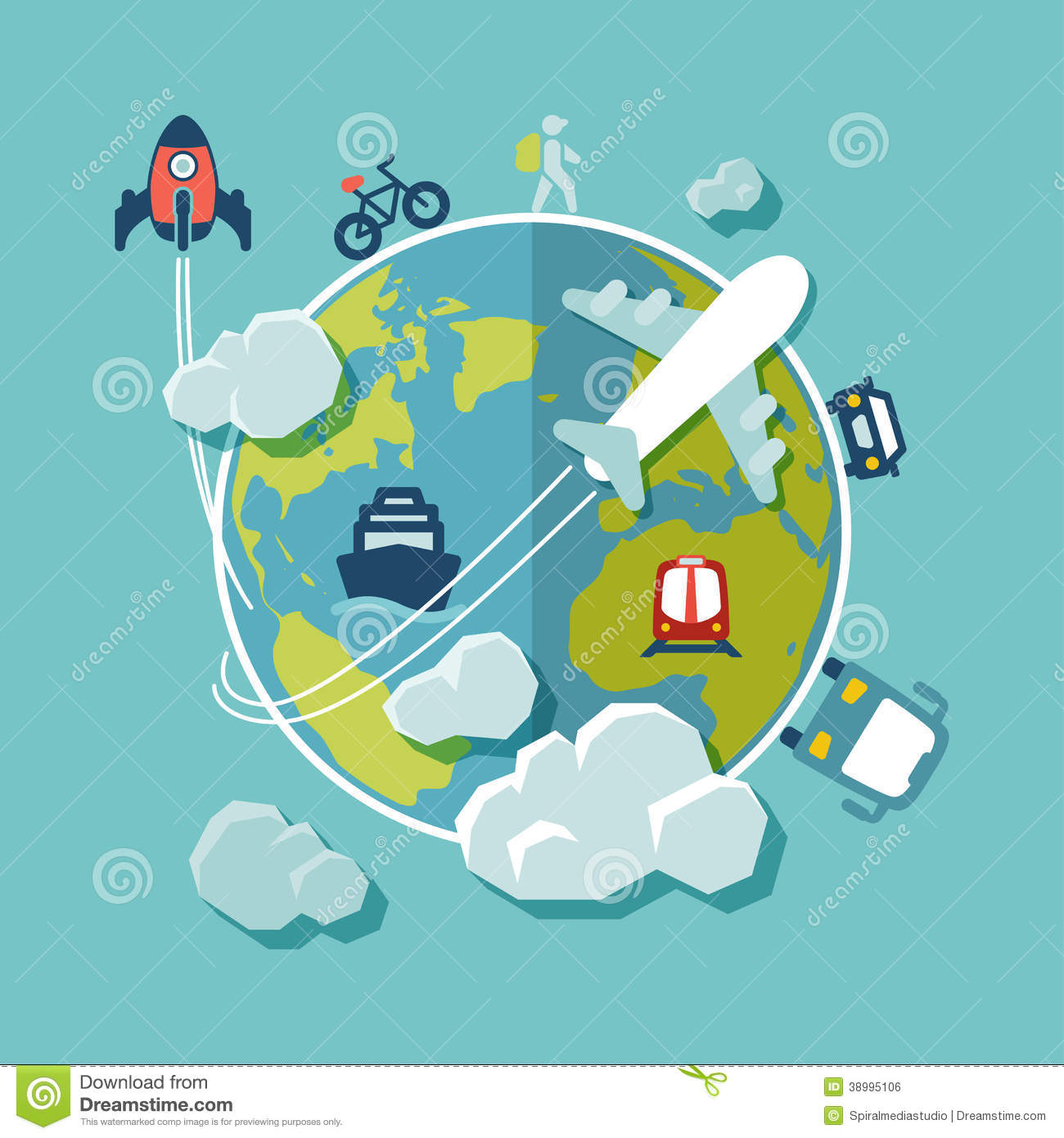 Travel around the world flat design stock vector illustration of travel around the world flat design stock vector illustration of tourist train 38995106 gumiabroncs Image collections