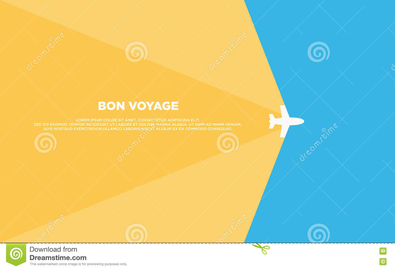 Download Travel Background Template Poster Flat Design Stock Vector