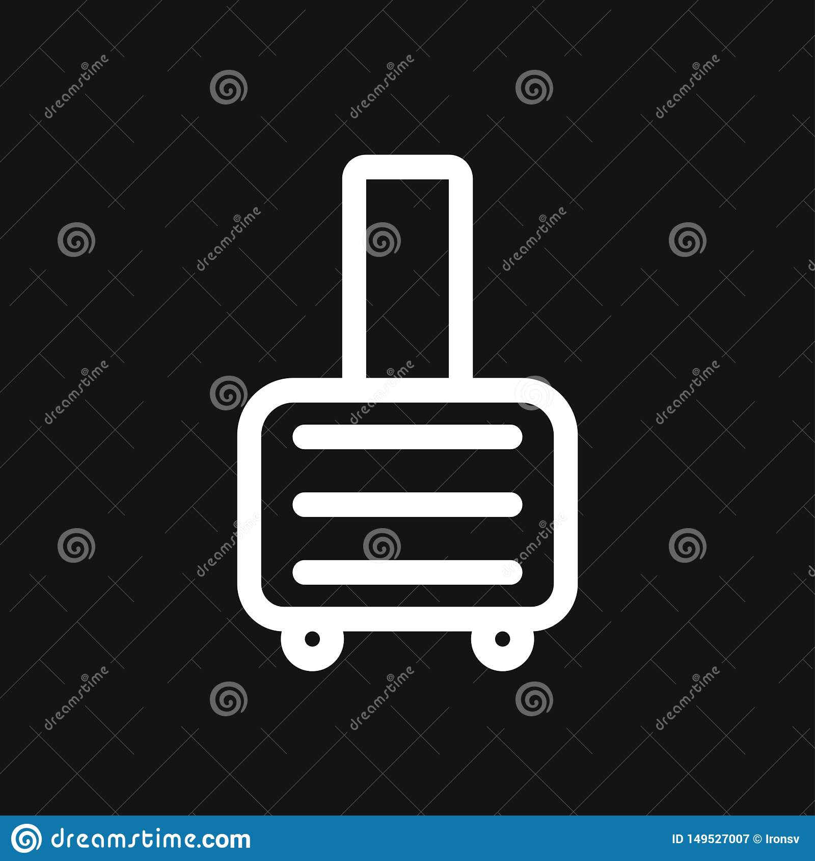Travel bag icon vector sign symbol for design