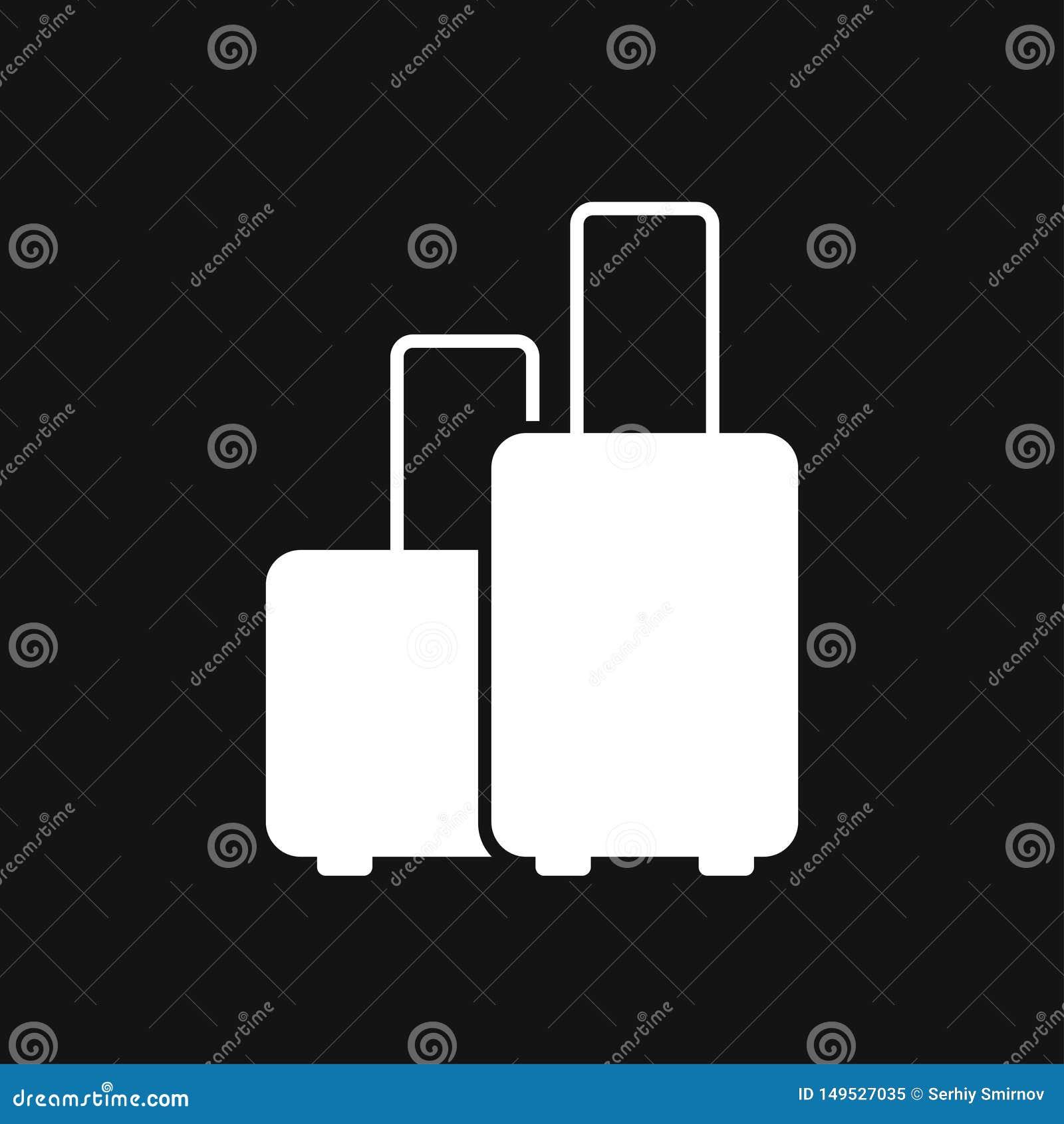Travel bag icon vector sign symbol for design