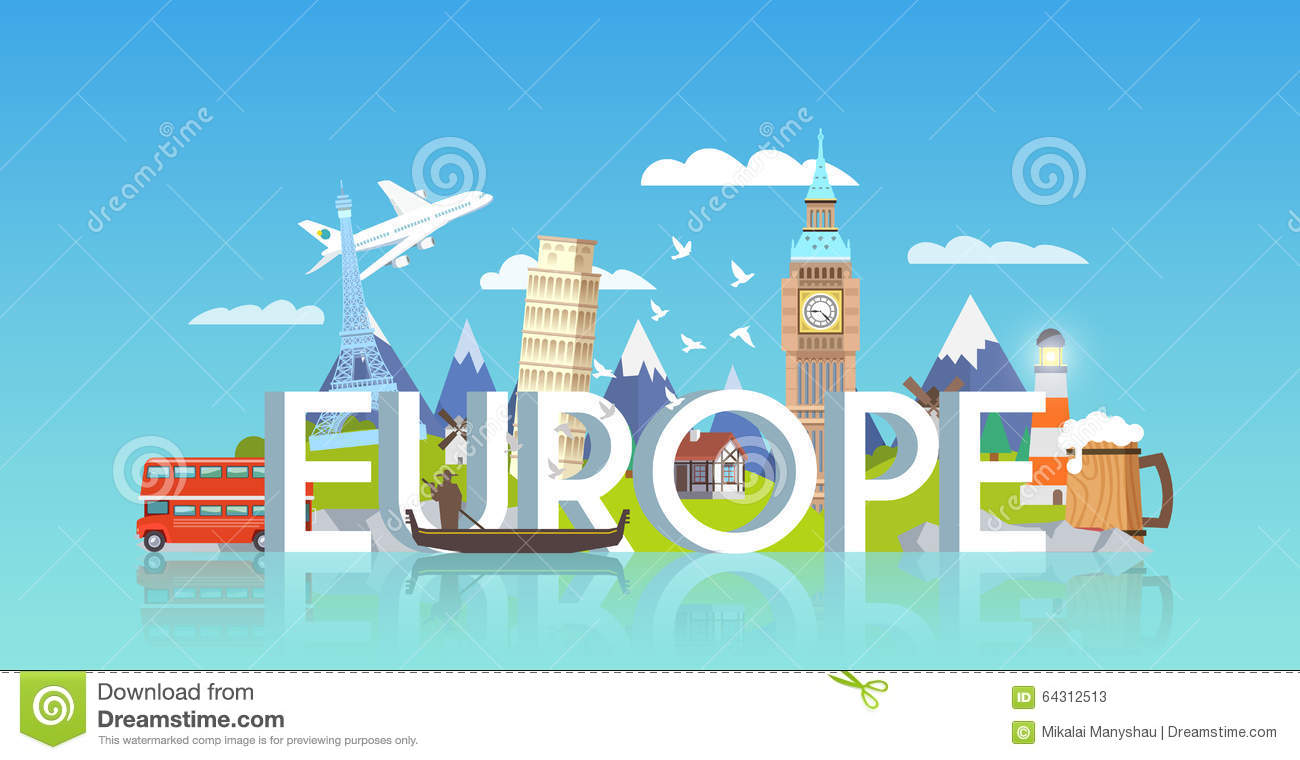 Europe image from Dreamstime.com