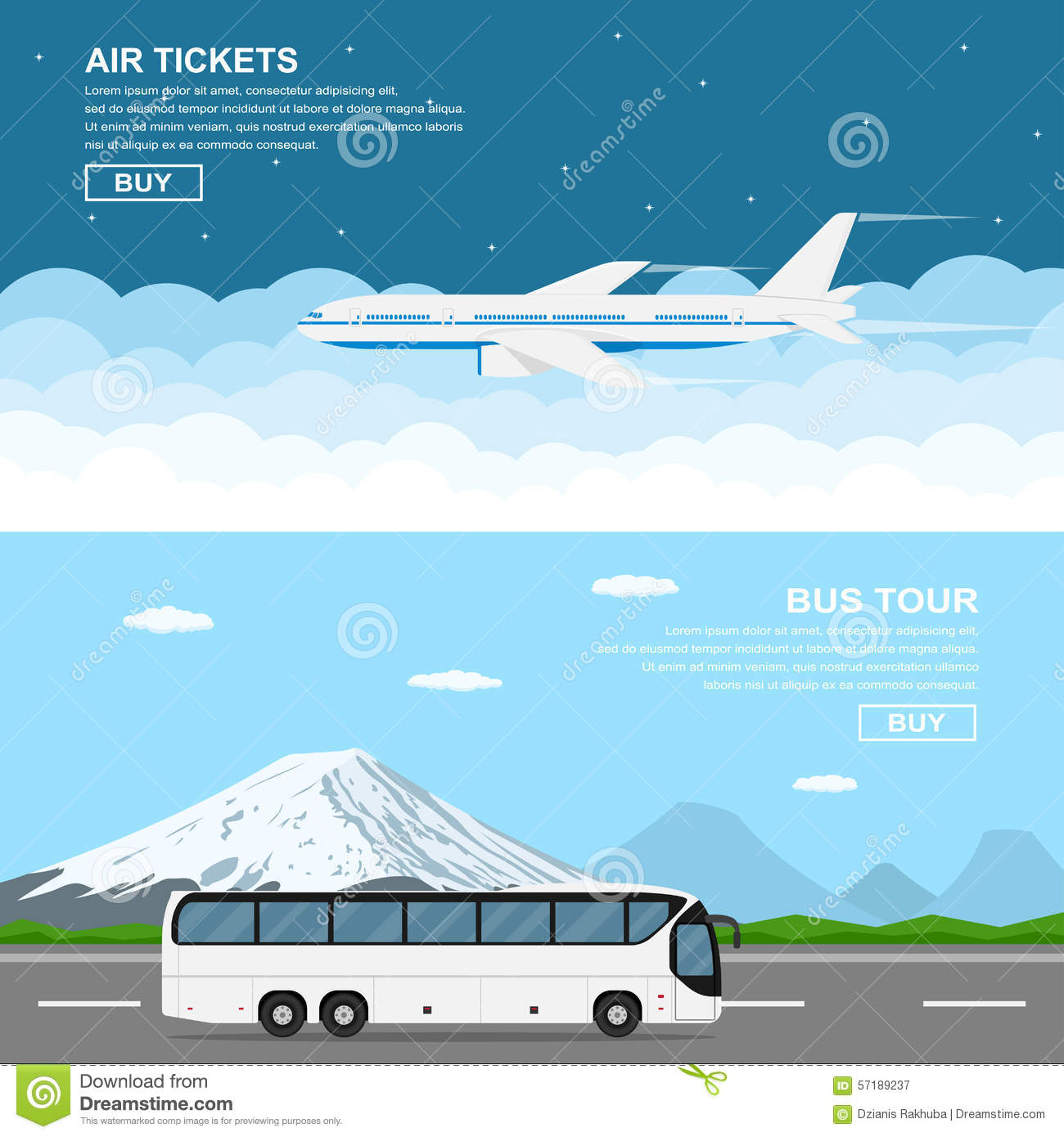 travel banners stock vector illustration of airplane 57189237